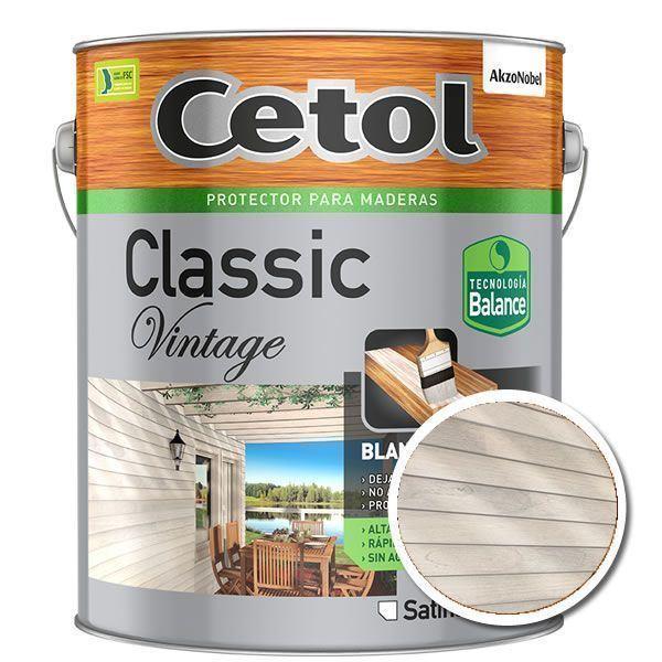 Imagen de Cetol Classic Vintage Sat. Blanco 4L